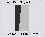 ROI(область интереса) с анализируемой кромкой